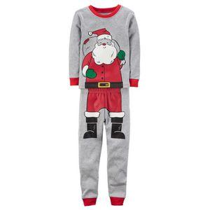 Ensemble de vêtements 2-7 Ans Enfant Garçon Pyjamas Gris Noël 2 PCS Ense