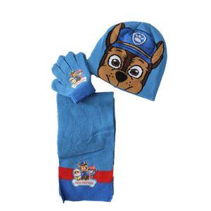 BONNET - CAGOULE bonnet gants écharpe pat patrouille chase bleu cla