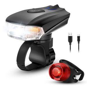 ALLUMAGE AUTO DES FEUX QVBokay-Eclairage Vélo LED, Ensemble d'éclairage d