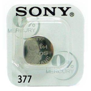 ENTRETIEN MONTRE 1x Sony Pile de Montre 0% Mercure, 377 (SR626SW)