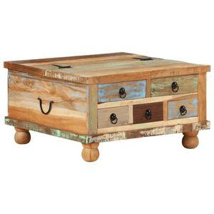 TABLE BASSE vidaXL Table basse Bois de récupération 70 x 70 x