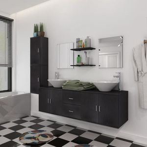 SALLE DE BAIN COMPLETE vidaXL 9 pièces de mobilier de salle de bain et la