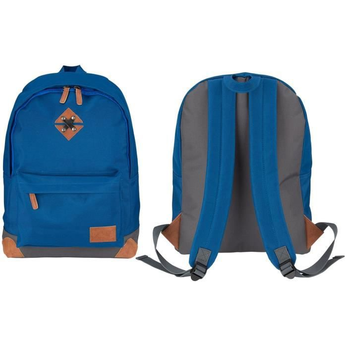 ABBEY Sac à dos de taille moyenne - 100% Polyester 300T - 42 x 30 x 16 cm - Capacité : 20 L - Bleu Marine