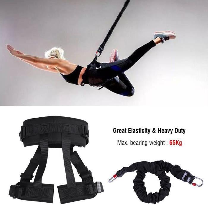 Cordon de suspension Corde élastique pour danse aérien avec bande de résistance au bungee anti-gravité Équipement de yoga(65kg)-DBA