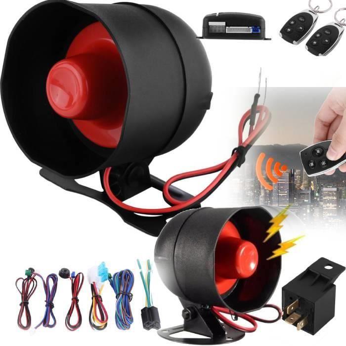 Kit complet Alarme de voiture Système de sécurité pour Universelle Auto Véhicule Multifonctionnel