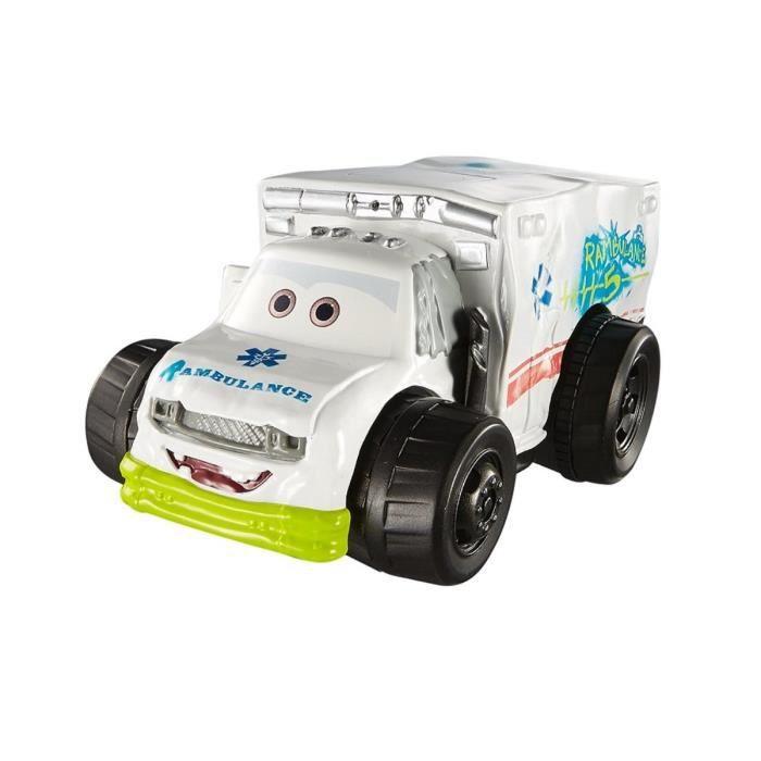 Vehicule Blanc Miniature Cars 3 Dr Damage Ambulance - Voiture Disney Rambulance - Enfant