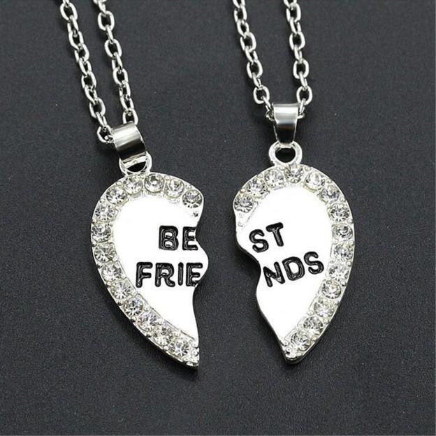 Collier - Best Friends - Meilleures Amies - Argenté