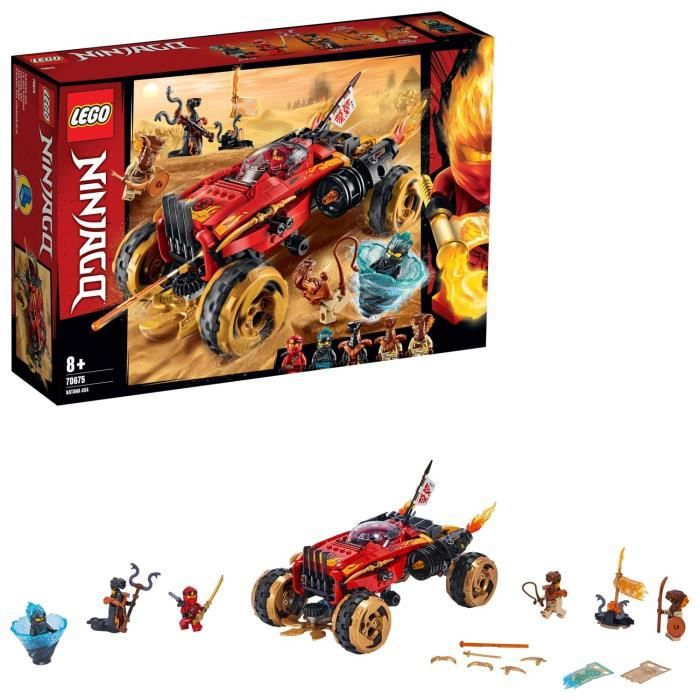 LEGO NINJAGO - Le 4x4 Katana, Jeu pour Enfant 8 Ans et Plus, Briques de Construction Garçon et Fille 450 Pièces - 70675