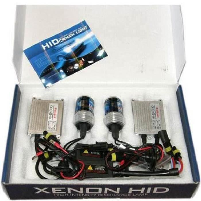 KIT PHARES FEUX XENON HID TUNING H7 6000 SLIM 55W Gr67112
