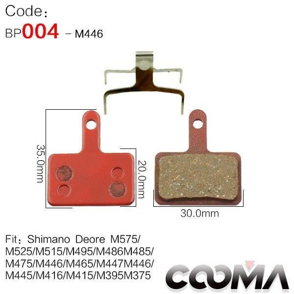 Pièce Détachée,4 paires 8 pièces plaquettes de frein de vélo pour SRAM Avid SHIMANO Magura Hayes formule Scooter, - Type For M375