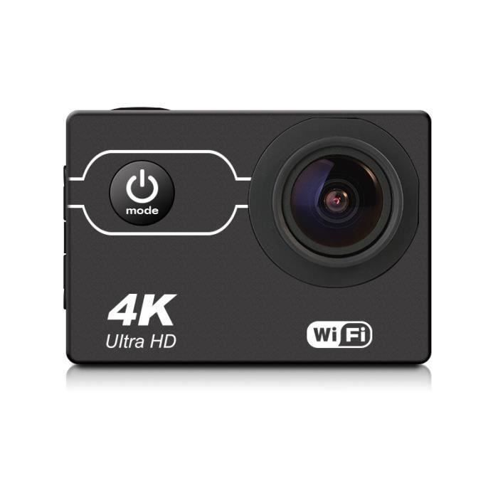 Waterproof 4K 16MP Sports Action Camera WIFI Sony CMOS Sensor with 21 Accessory Bundle Noir