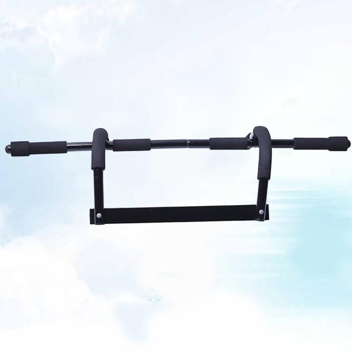 Barre de Traction Murale Dips Fitness Sport Musculation Pull Up 120kg(noir) -min