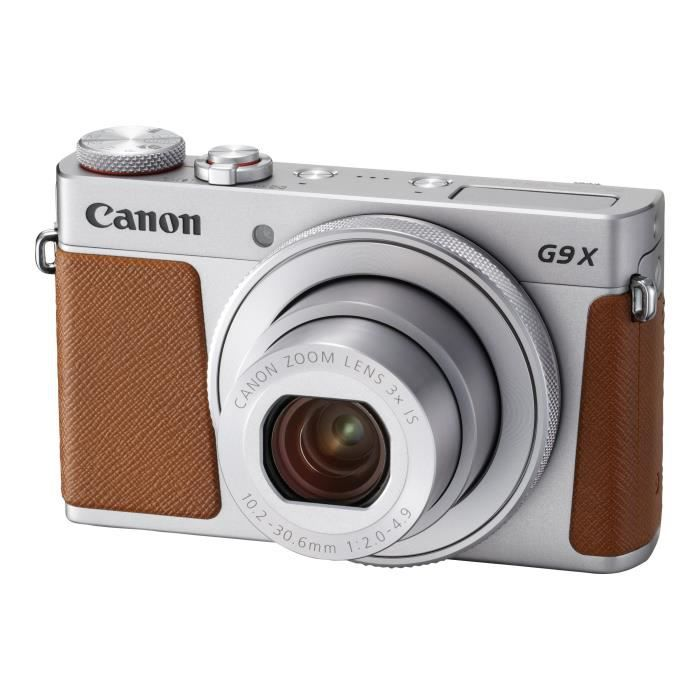 Canon PowerShot G9 X Mark II Appareil photo numérique compact 20.1 MP 1080p - 60 pi-s 3x zoom optique Wi-Fi, NFC, Bluetooth…
