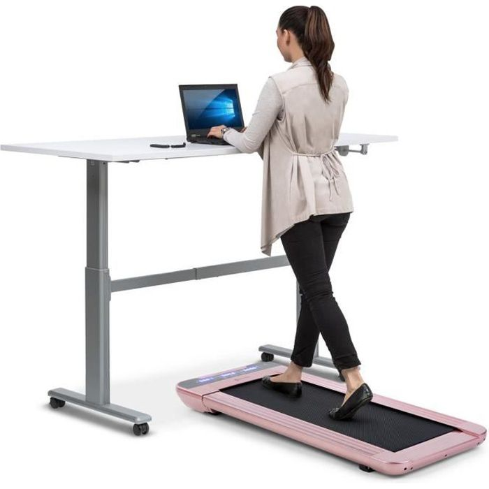 CAPITAL SPORTS Workspace Go - Tapis de course cardio 350 W , charge 120 kg max. - Rose