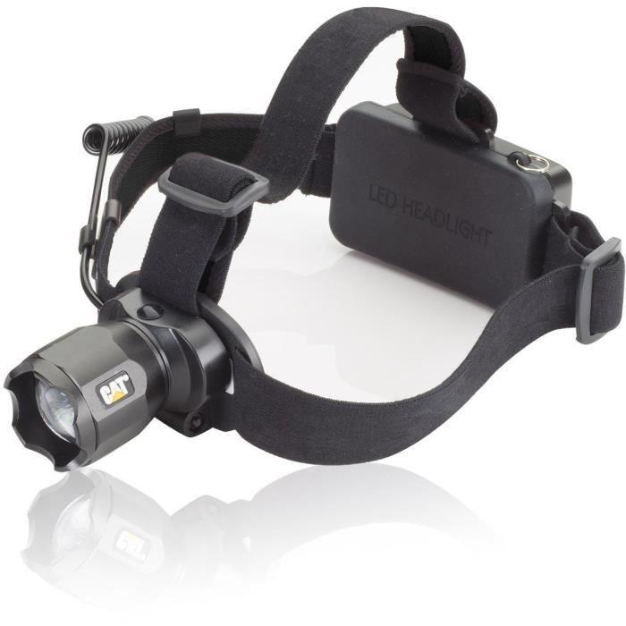 Lampe frontale LED CATà batterie 350 g 10 h noir