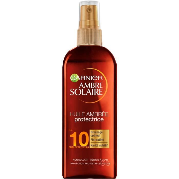 GARNIER Ambre Solaire Spray Huile Protectrice - FPS 10 - 150 ml