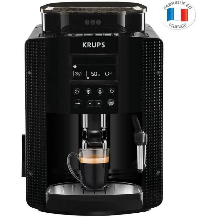 KRUPS YY8135FD Machine à café automatique avec broyeur à grains Essential - Ecran LCD - Pression 15 Bars - Noire