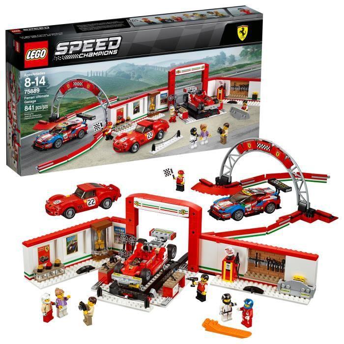 Jeu D'Assemblage LEGO Champions Speed ??Ferrari ultime Garage 75889 Kit de construction (841 pièces) D6XX7