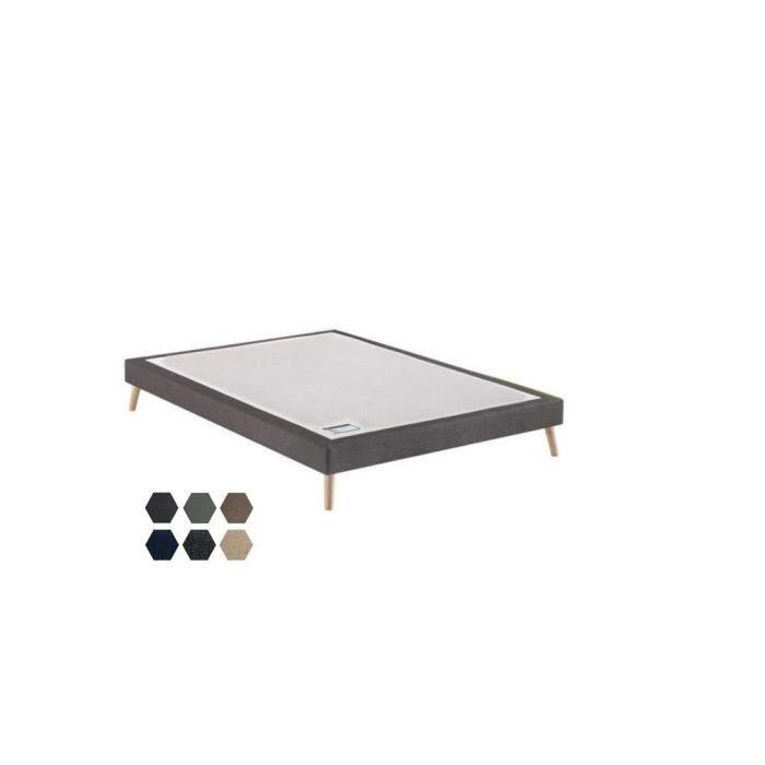Sommier tapissier Merinos Confort Morphologique 3 Zones 16 cm 180x200 avec 2 sommiers Blanc