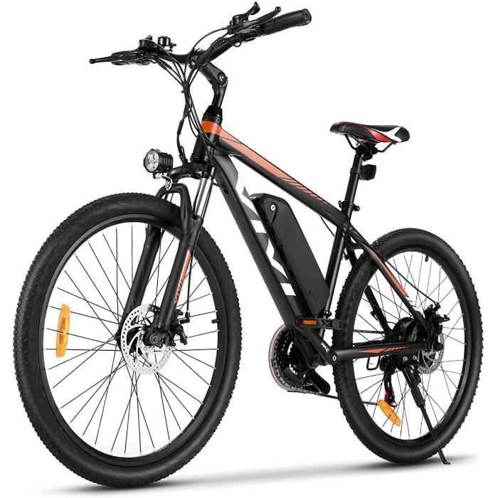 VIVI Vélo Électrique- 26--27-5- VTT Électrique- 350W Vélos électriques pour Adultes avec Batterie Lithium-ION Amovible De 10-4 Ah