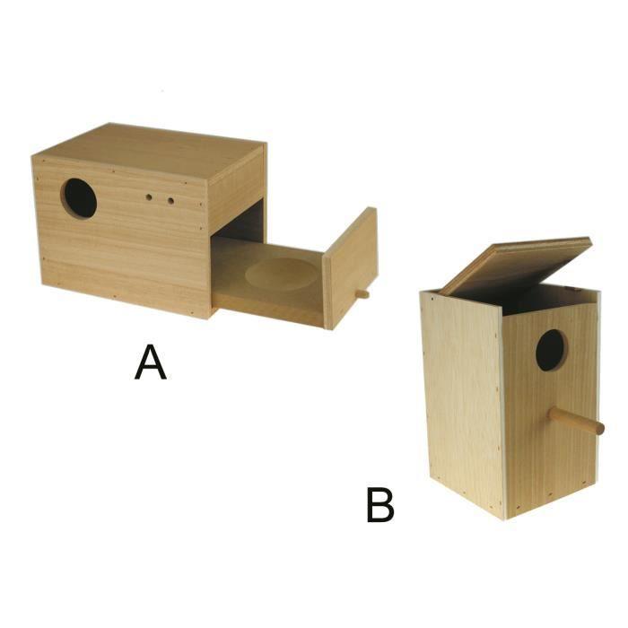 Nichoir vértical bois inséparables + entrée 5 cm