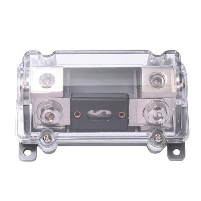 100A support de fusible pour haut-parleur de voiture couvercle transparent audio en ligne Mini ANL porte-fusible FUSIBLES