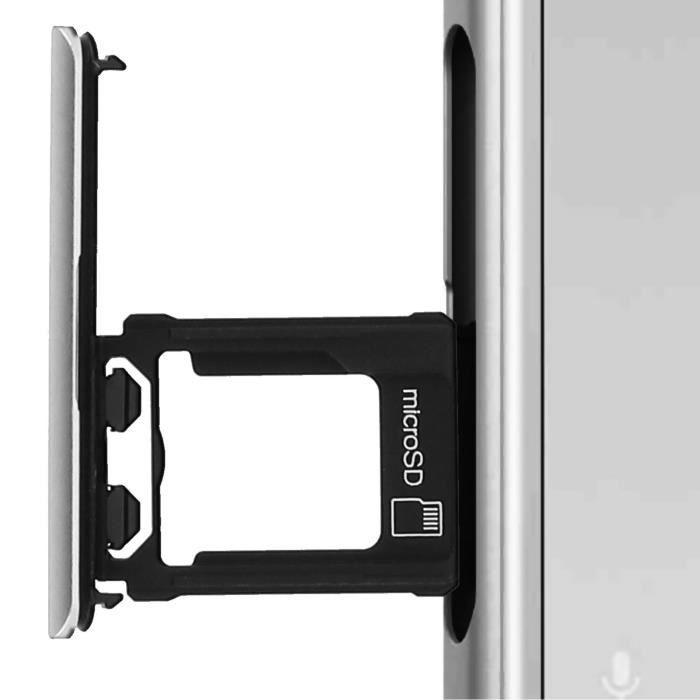 Tiroir Carte Micro-SD Xperia XZ1 Tiroir de Remplacement Sony - Argenté