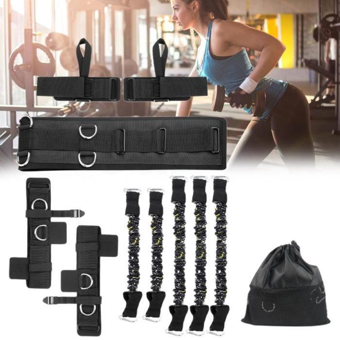 Ensemble Bandes de résistance Élastique Fitness Bandes d'exercice extensibles d'entraînement de boxe -Résistance 200 lbs