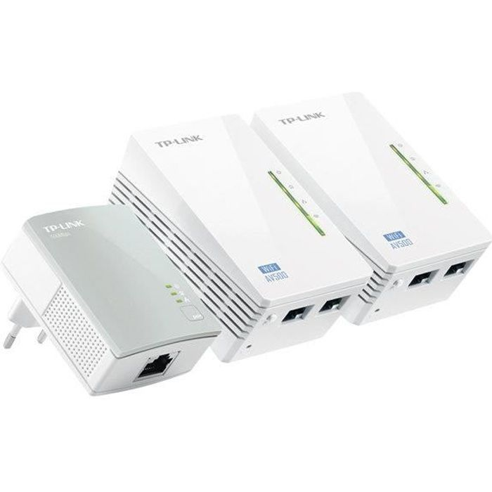 TP-LINK KIT 2 CPL filaire 500 Mbps + 1 CPL WIFI N300 Mbps WPA4220TKIT