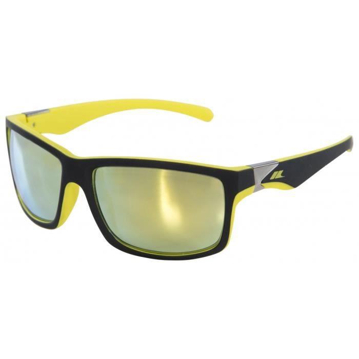 lunettes Dropde soleil unisexes noir mat/jaune