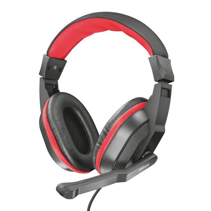 Casque d'écoute Trust Ziva Gaming - Microphone intégré - Réglage du volume 21953