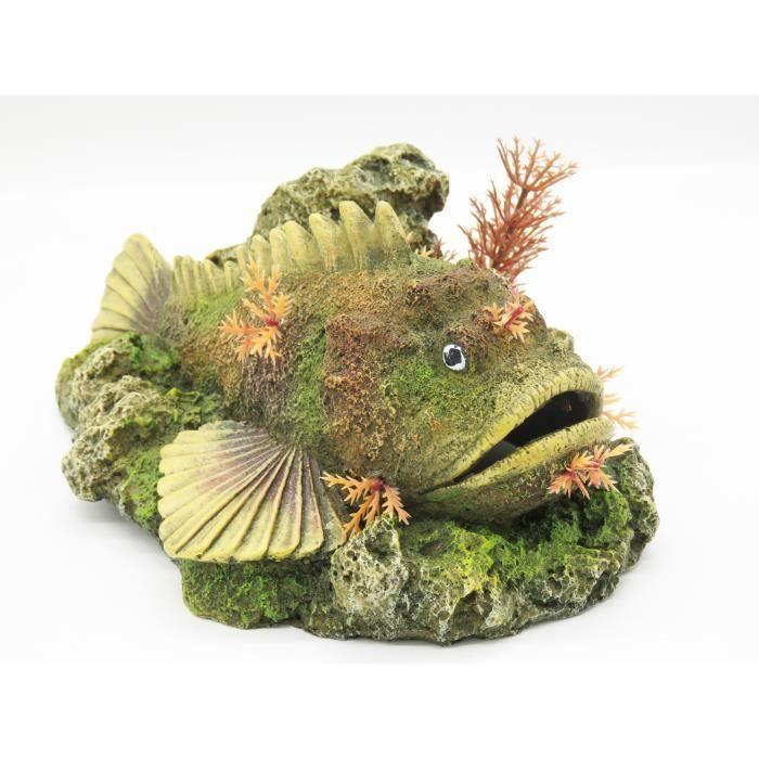 Vadigran - poisson avec diffuseur de bulle 210 x 145 x 90 mm décoration aquarium