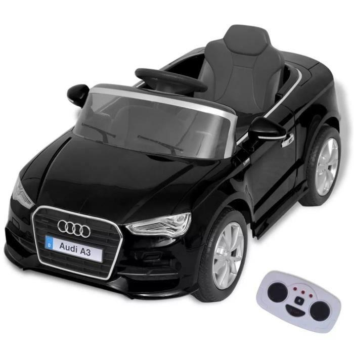 Voiture électrique pour enfants télécommandée Audi A3 Noir
