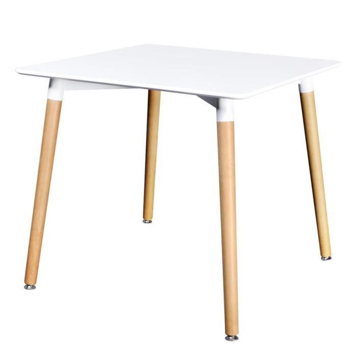 TABLE À MANGER SEULE VAGUE Table de salle à manger carrée MDF Blanc