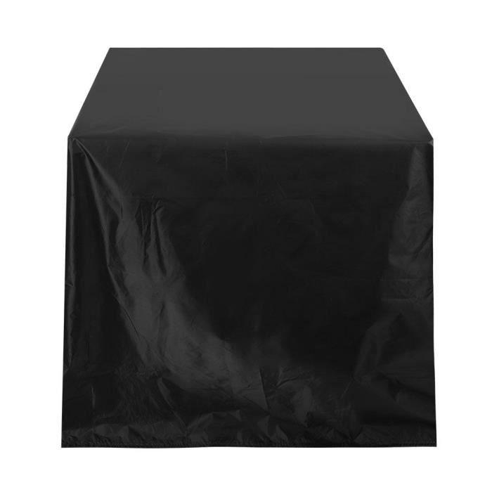 Size : 120x120x74cm Housse Table de Jardin Imperm/éable Housse Salon de Jardin B/âche Salon de Jardin 420D Oxford Housse Mobilier Jardin Ext/érieure Protection Meubles de Jardin Tissu Noir