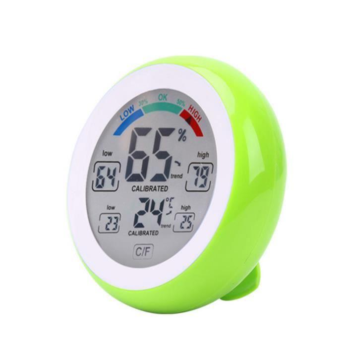 Mini Round LCD Thermomètre numérique hygromètre Température