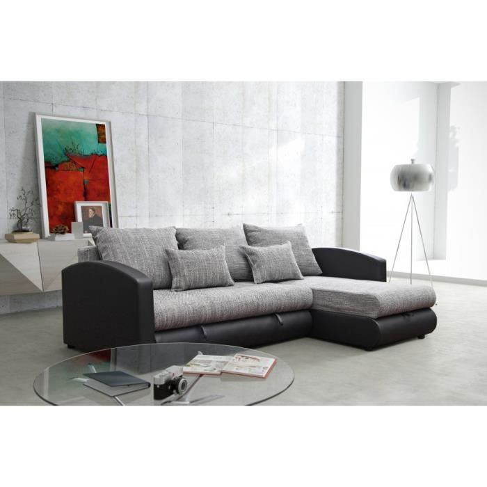 canap alta noir gris sofa divan achat vente canap sofa divan les soldes sur. Black Bedroom Furniture Sets. Home Design Ideas