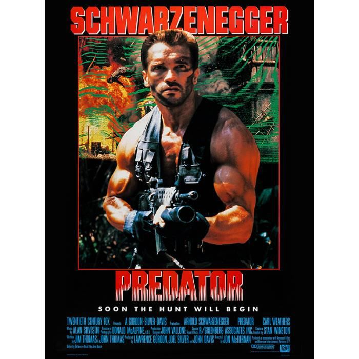 predator reproduction affiche cin ma 60x80 achat vente affiche poster cdiscount. Black Bedroom Furniture Sets. Home Design Ideas