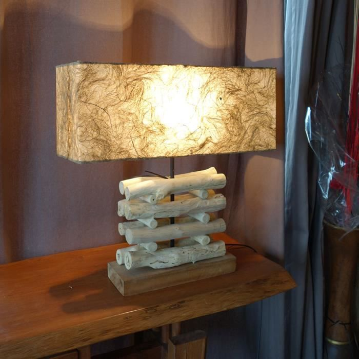 lampe en rondins de bois flott achat vente lampe en rondins de bois fl bois cdiscount. Black Bedroom Furniture Sets. Home Design Ideas