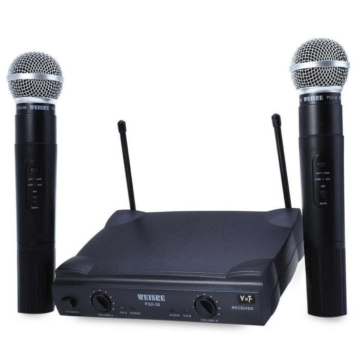 microphone weisre pgx 58 vhf double microphone sans fil avec r cepteur microphone avis et. Black Bedroom Furniture Sets. Home Design Ideas