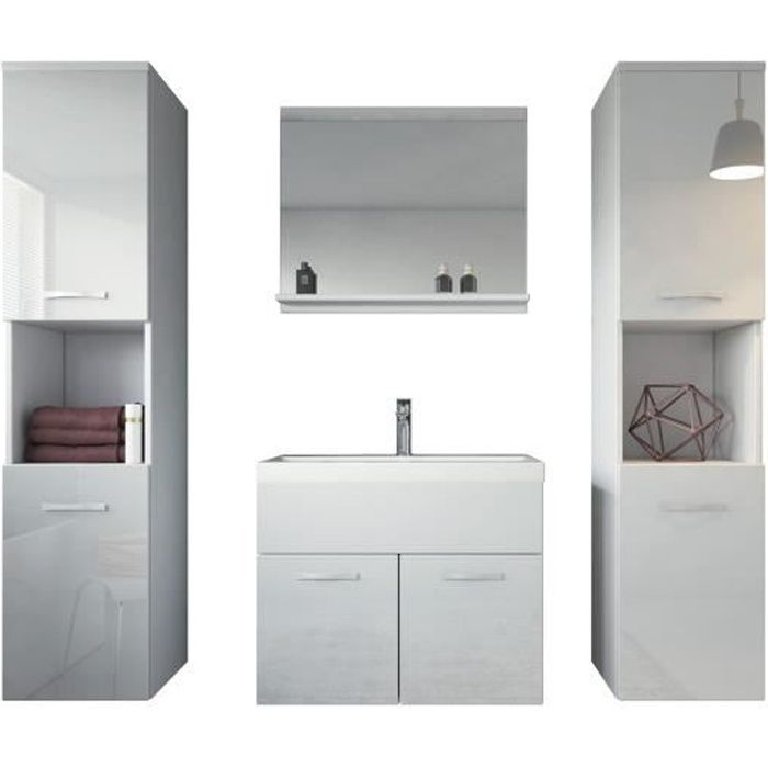 meuble salle de bain 60 cm achat vente pas cher. Black Bedroom Furniture Sets. Home Design Ideas