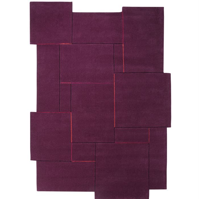 tapis puzzle prune 120x180 esprit achat vente tapis. Black Bedroom Furniture Sets. Home Design Ideas