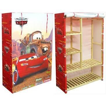 penderie bois cars disney achat vente penderie mobile cdiscount. Black Bedroom Furniture Sets. Home Design Ideas