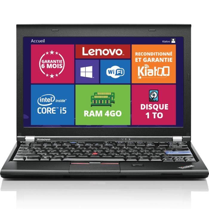 ORDINATEUR PORTABLE ordinateur portable lenovo thinkpad x220 ultrabook