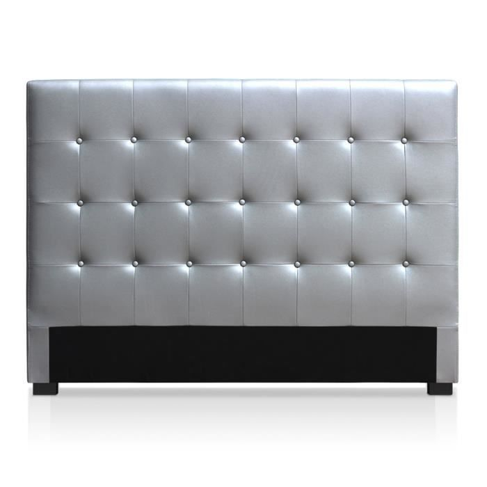 tete de lit argent achat vente tete de lit argent pas cher cdiscount. Black Bedroom Furniture Sets. Home Design Ideas