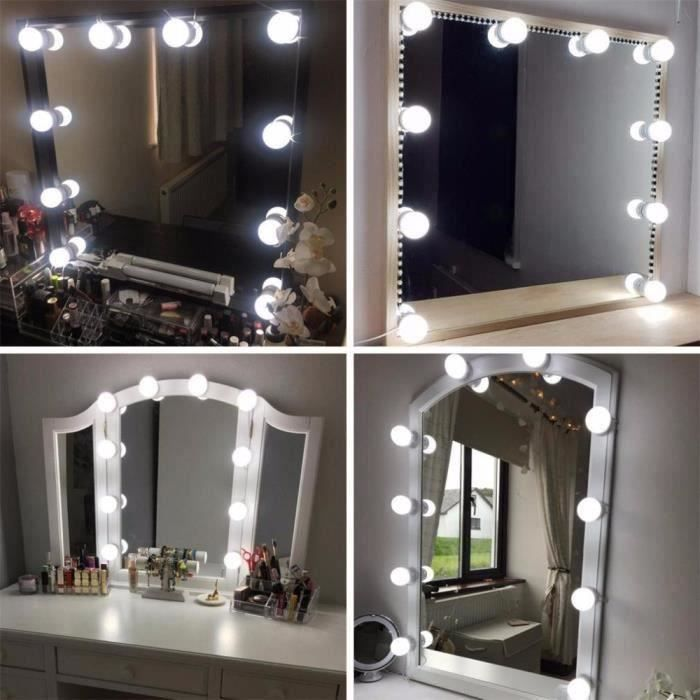 coiffeuse avec miroir led achat vente pas cher. Black Bedroom Furniture Sets. Home Design Ideas