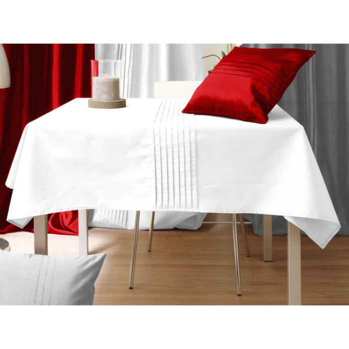 nappe carr e samourai blanc achat vente nappe de. Black Bedroom Furniture Sets. Home Design Ideas