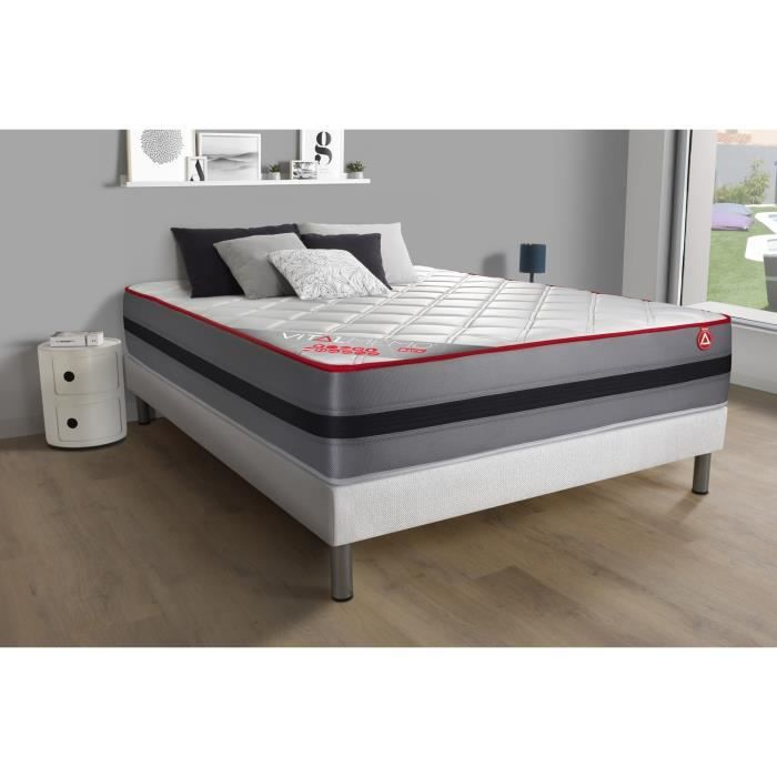 matelas vitalmemo back 180x200 m moire de forme 5 zones maxi paisseur achat vente matelas. Black Bedroom Furniture Sets. Home Design Ideas