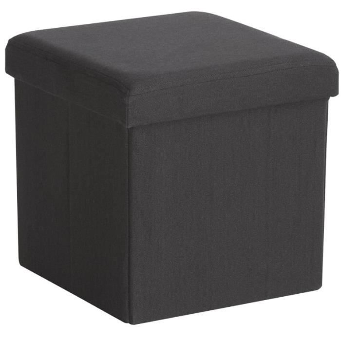pouf multifonctions gris anthracite achat vente boite. Black Bedroom Furniture Sets. Home Design Ideas