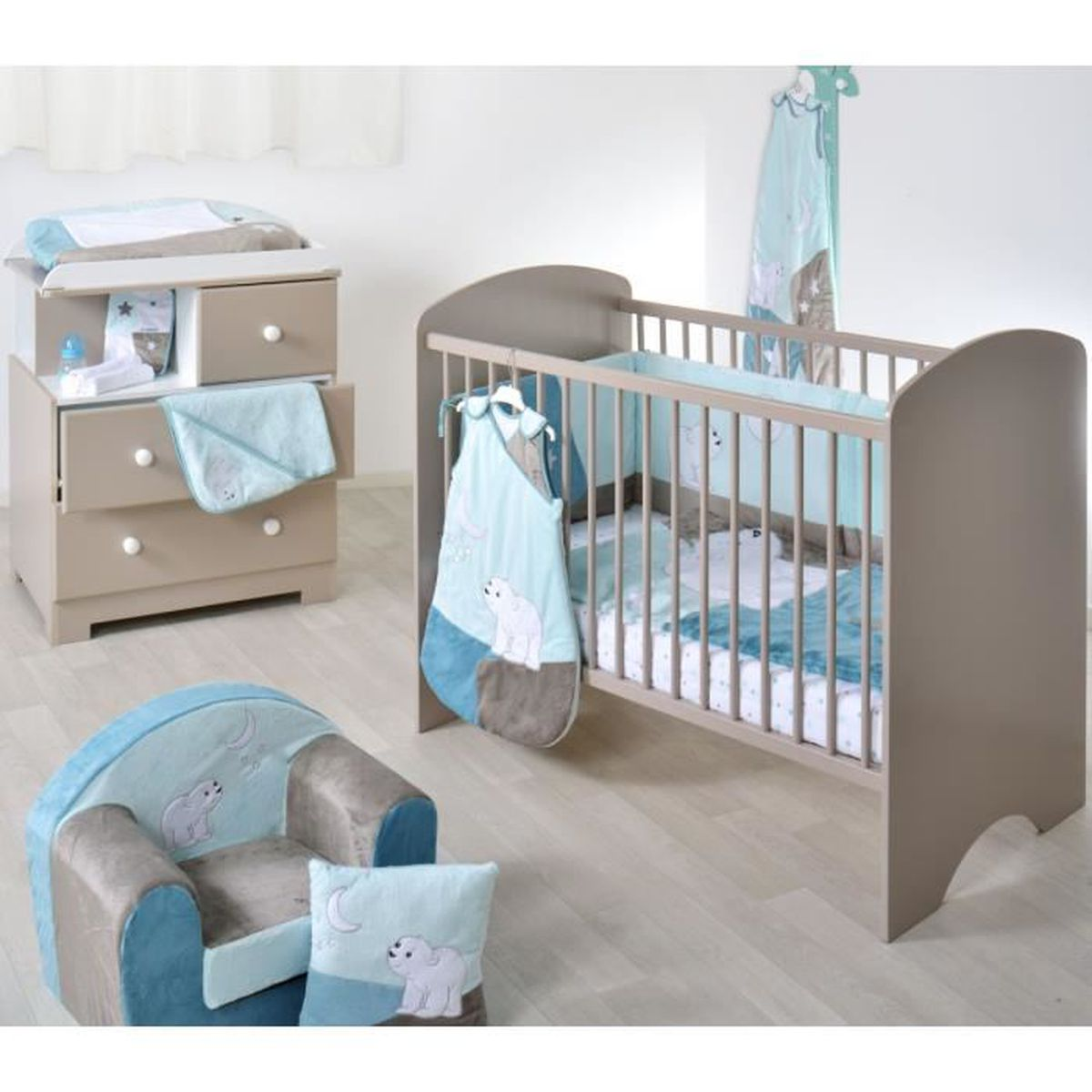 Chambre bébé sweety taupe 60x120 - Domiva - Achat / Vente ...